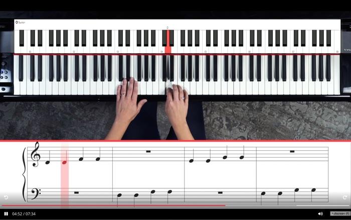 Pianote lesson screen