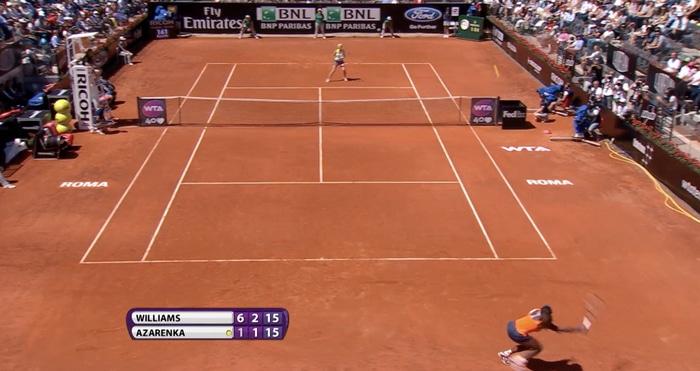 Serena Williams lob