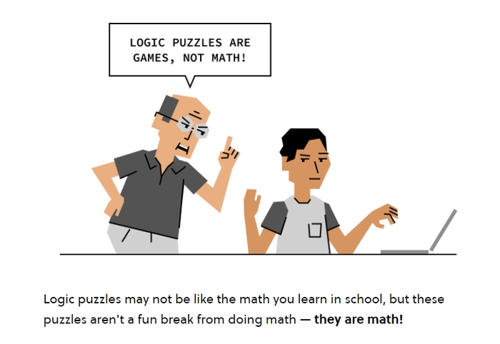 Brilliant puzzles are math