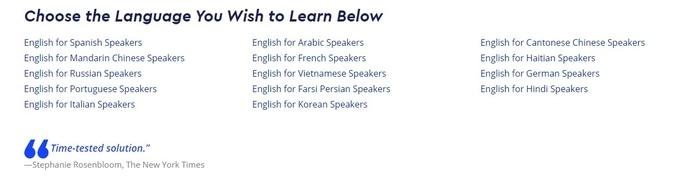 Pimsleur languages