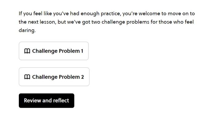 Brilliant extra challenges