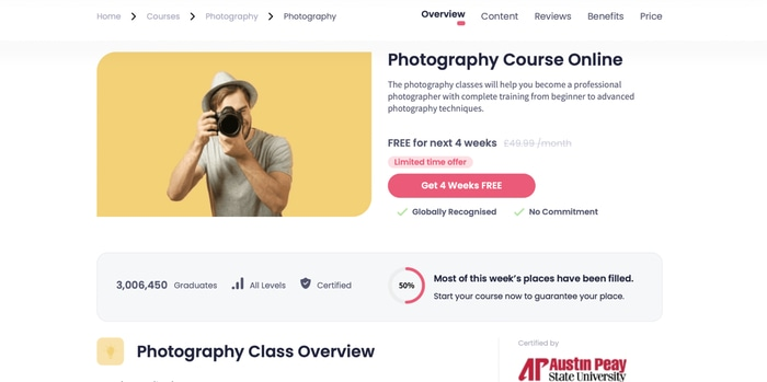 Photography online Shaw academy